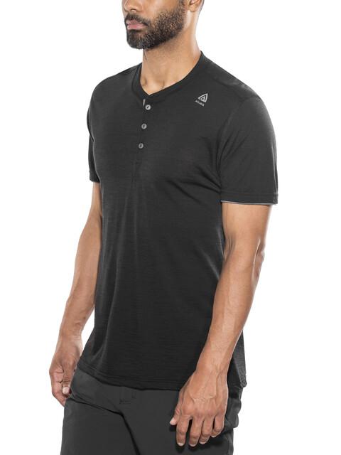 Aclima LightWool Henley Shirt Men jet black/iron gate